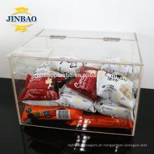 Jinbao caixa de acrílico transparente 2mm 3mm de armazenamento tamanho personalizado