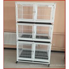Cages se pliantes en métal de chat d'animal familier avec les roues et le plateau Malaisie