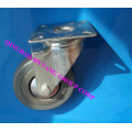 Gray rubber fixed caster wheel N120050