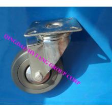 Borracha cinza fixo roda do rodízio N120050