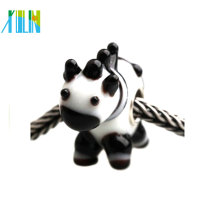 Murano milk cow shaped large hollow beads