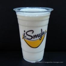 Gobelets en plastique pour boissons froides avec couvercles
