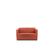 Kulit 2 tempat duduk Couch Chesterfield Lounge Sofa
