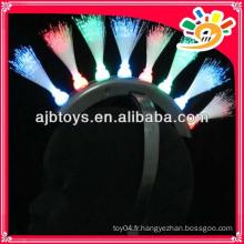 8 feux clignotant jouets fibre optique épingle à cheveux
