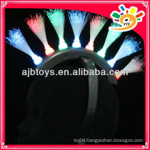 8 lights flashing toys fiber optic hairpin