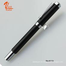 High End de Engarve Pen de Metal de pluma de bolígrafo negro para negocios
