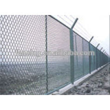 PVC Coated or galvanized Diamond mesh chain link fence for coal mine protection