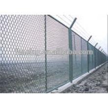 O PVC revestiu ou galvanizou a cerca do elo de corrente do engranzamento do diamante para a proteção de mina de carvão