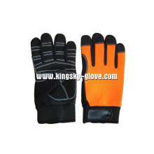Sythetic Leather Palm Mechanic Working Glove-7212