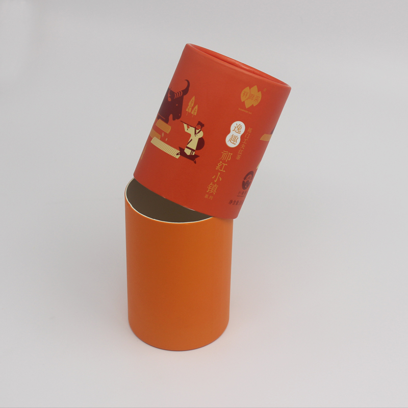 Well Plain Recycled Natural Cylinder Tea Packaging Box