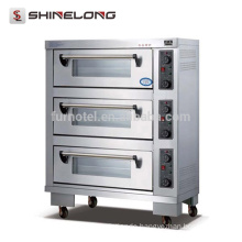 K335 3 Layers Movable Automatic Food Oven Machine Electrical Oven