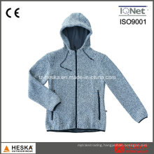 Winter Hooded Sweatshirt Womens Knitted Jacket