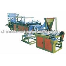 Máquina de fabricación de bolsas de rollo continuo con cinta adhesiva