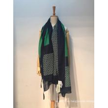 El otoño de la primavera del voile de las señoras de la manera imprimió la bufanda / el mantón