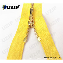 0#, 1#, 2# Hot Sale Brass Zipper with No 1, No 2, No, 3 Gold Teeth