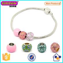 La Chine a fait le bracelet de perles européennes de femmes d'alliage # Scb009