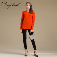 Inner Mongolia Women Solid Pullovers Wool Cable Knit Sweater For Factory Wholesale