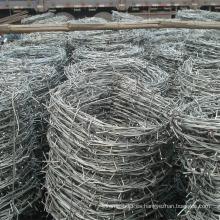 Malla de alambre de púas galvanizada sumergida caliente del hierro