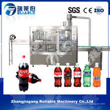 Machine de remplissage automatique de bouteilles d'eau gazeuse 3 en 1