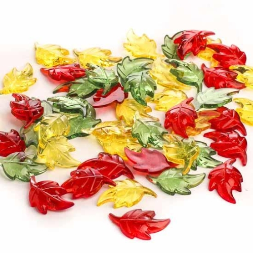 Assorted Acrylic Confetti for Fall Season
