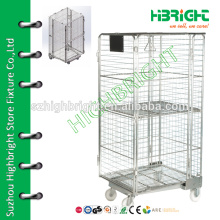 Wire Container Type und Heavy Duty Scale faltbare Wire Mesh Roll Cage Container