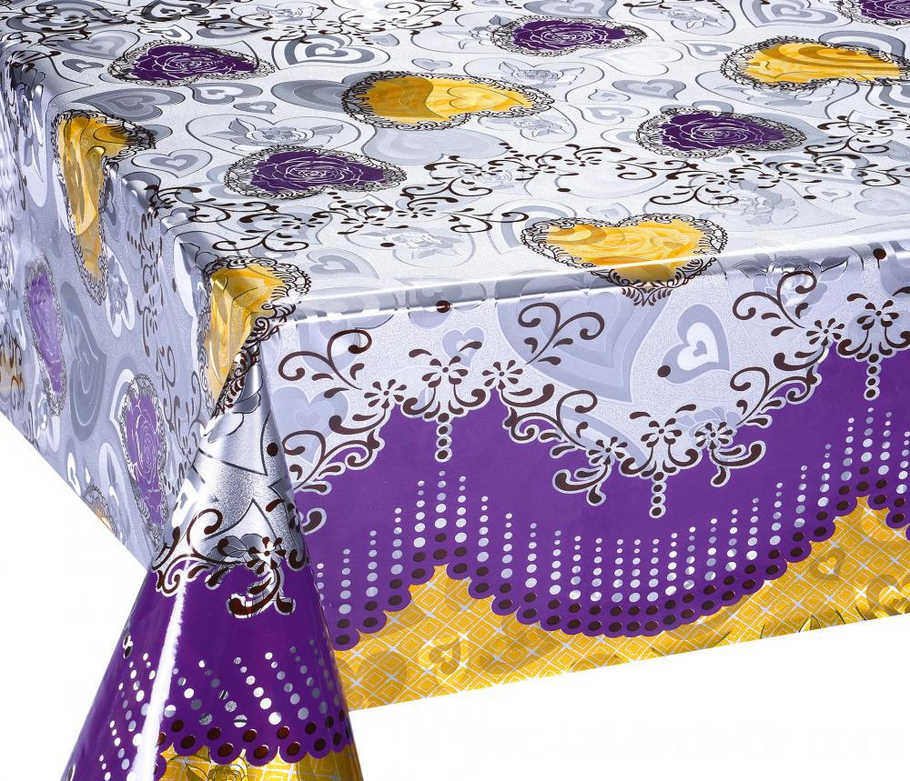 Mettalic gold silver tablecloth 5