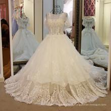 LS59678 11.11 quente venda atacado manga curta saia grande 2017 vestidos de noiva sexy romântica casamento noiva