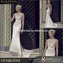 Новый продукт прибытия оптовая красивая мода зима свадебные платья