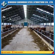Estrutura de aço de baixo custo Casa de vaca pré-fabricada Casa de campo de cabra