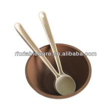 Nuevo tazón de fuente de la sopa de la fibra de la planta de la llegada y cuchara para los cabritos