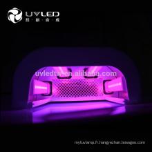 660nm (IR) + 365nm (UV) + 405nm (uv) Trois types de leds lumière peau de main clignotant uvled clou lampadaire