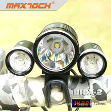 Maxtoch BI6X-2 4*18650 Battery Pack 3*XML T6 CREE LED Light Bike