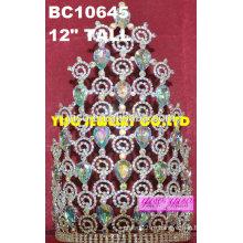Волосы ювелирные изделия дешевый маленькая принцесса кристалл конкурс тиара