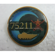 Metal Offset Impreso Lapel Pin Badge con Epoxy (badge-104)