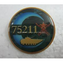Emballage imprimé imprimé en métal avec époxy (badge-104)