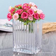Jarrón de la decoración del hogar Jarrón de cristal del arte de la alta calidad