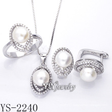 Factory Direct Sale Fashion Jewelry Pearl Set 925 Silver (YS-2240)