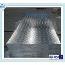 3003 Placa de rodadura de aluminio de 5 barras para los pasos del vehículo