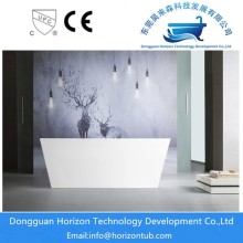Standard freestanding rectangular bathtub