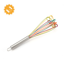 Hot Selling kitchen baking tools colorful manual silicone whisk egg beater