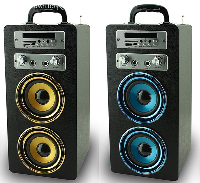 New product bluetooth wooden mega bass speaker