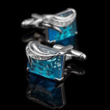 Abotoadura de papel preto de diamante de metal da moda de alta qualidade