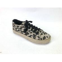 Damen Schnür Chunky Espadrille Flatform Brogue Schuhe