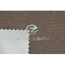 Three Color Diamond Velvet Bonded with Knitted Fabric for Sofa Use