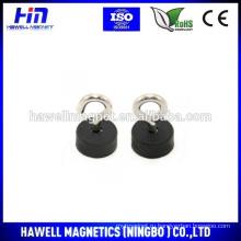 Неодим магнитный горшок, покрытый резиной 22mmdiax10mm горшок с крюком или рым-болтом M5