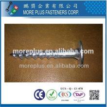 Taiwán Torx 40 Wafer cabeza ranurada tipo 17 con un corte en el hilo de rosca