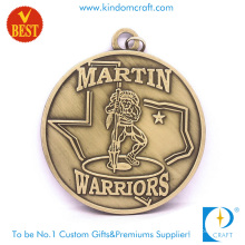 High Quality China Customized 3D Zinc Alloy Warriors Medal with Ancient Bronze