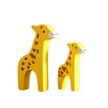 FQ marque gros cadeau artificiel à la main en bois girafe décoration art artisanat