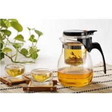 Tee-Set, Glas-Teekanne, hitzebeständiger Teetasse, Borosilikat-Teekanne