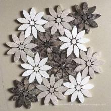 Mosaico de mármore de telha de pedra